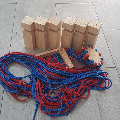 Budowanie wieży - zestaw do zabawy integracyjnej