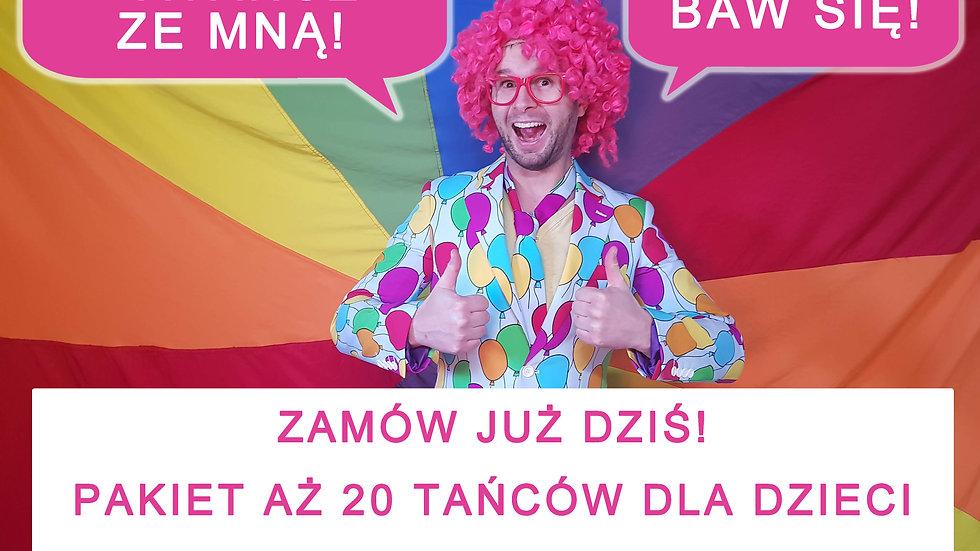 Tańce z Panem Kisiem - 20 układów dla dzieci!