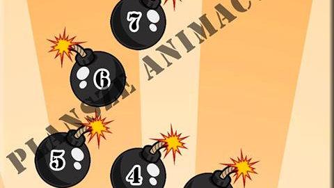 """Plansza animacyjna """"Bombowa gra"""""""