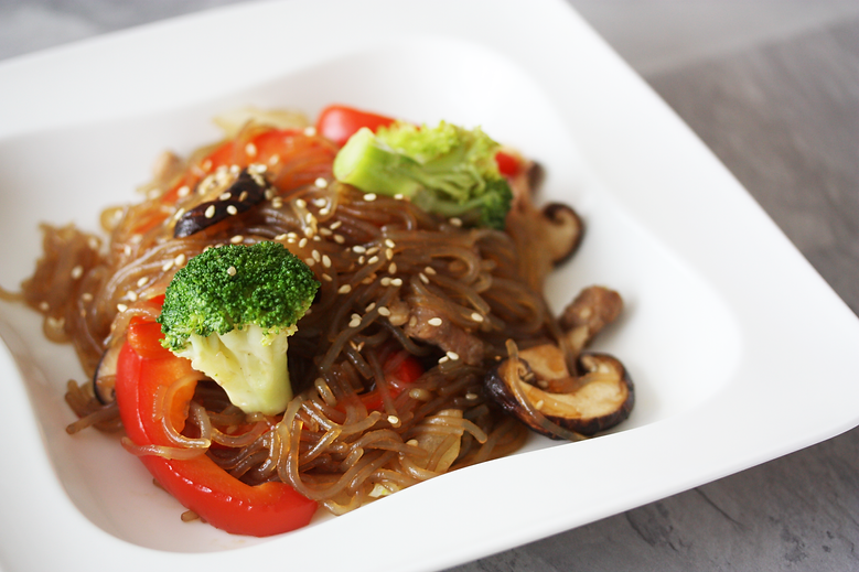 Japchae, Stir-Fried Glass Noodle