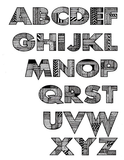 A-Z TYPOGRAPHY ART PRINT