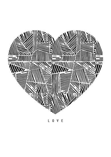 HEART GEOMETRY A4 ART PRINT