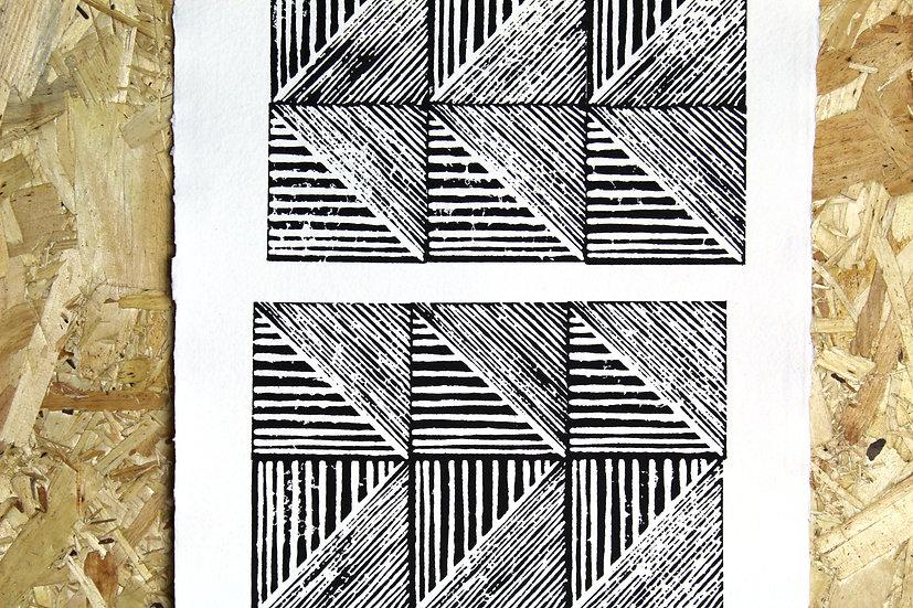 FORWARD//REWIND Original Block Print A3