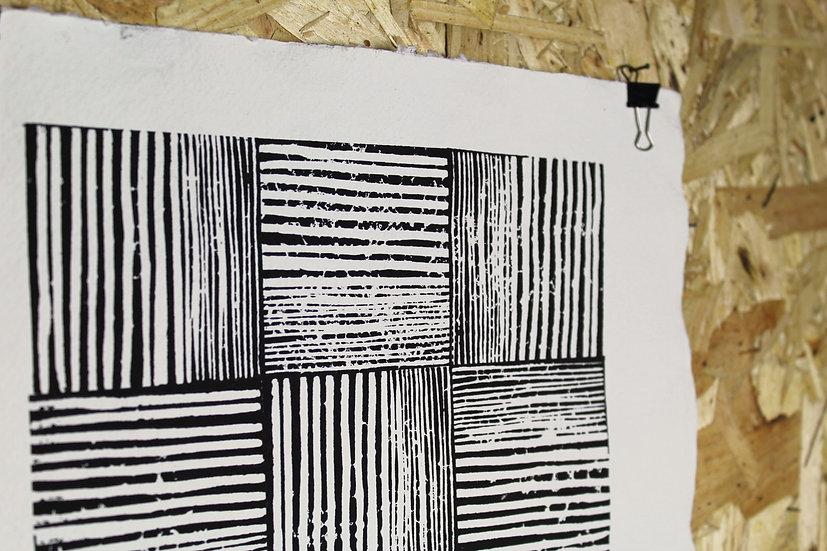 BRICKS Original Block Print A3