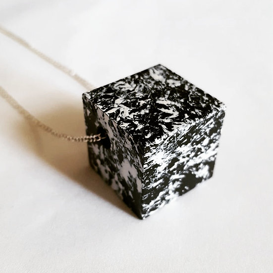 SPLASH Square Hand Painted Necklace