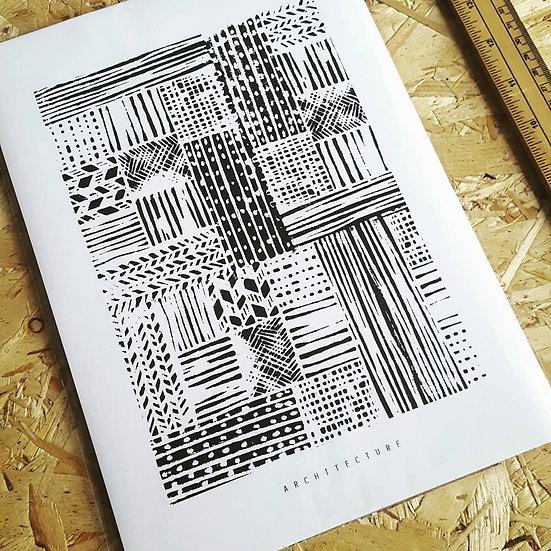 ARCHITECTURE   Linocut Print
