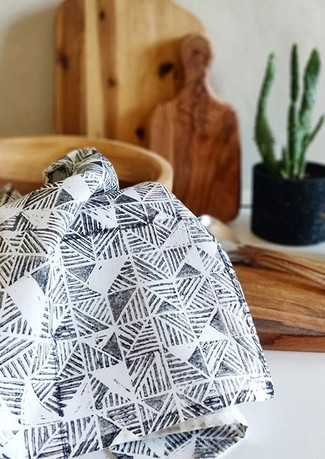 F R O M  P R I N T  T A B L E  To kitchen table. A little peak of of the TRIANGLES printed
