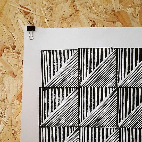 ORIGINAL Block Print A2 #1