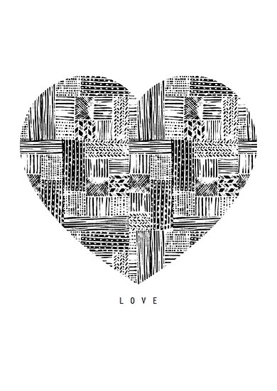 HEART ARCHITECTURE ART PRINT