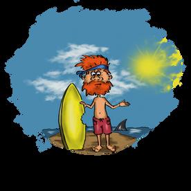 The Surfer - T-Shirt Design
