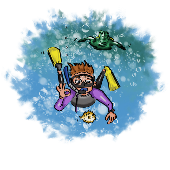 The Snorkeler - T-Shirt Design