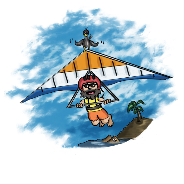 The Paraglider - T-Shirt Design