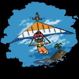 The Paraglider - T-Shirt Design