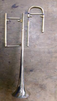 Trombone Kelhermann démonté