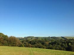 Meadow Yurt View in September