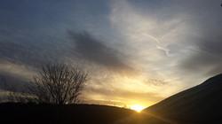 Sunset Behind Meadow Yurt