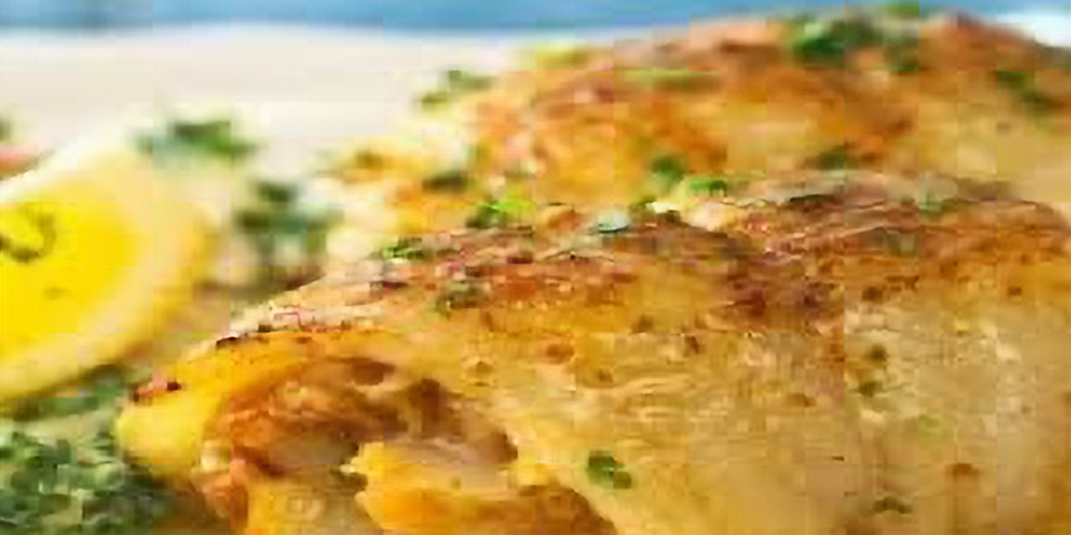Saturday Night Stuffed Sole Dinner - Member and Family $18 Per Person