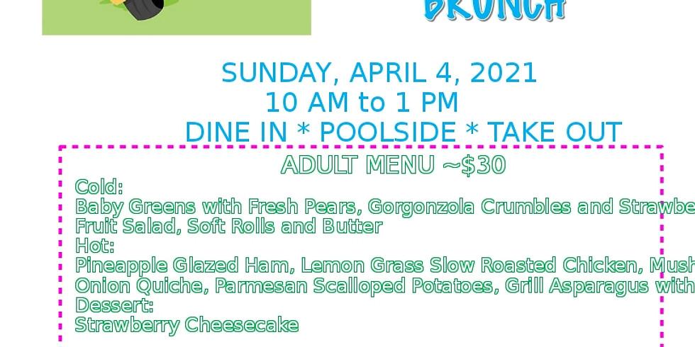 Easter Brunch at the Lodge   Adult $30 / Kids $15