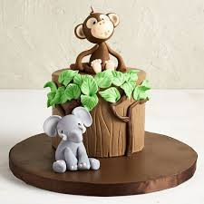 Cute Monkey and Elephant Topper:  Price upon request.