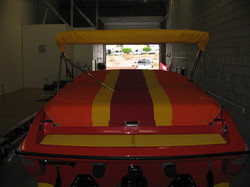 Velcro-on Cockpit Boat Cover