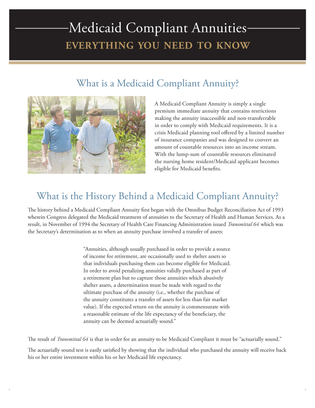 Medicaid Compliant Annuities, everything you should know