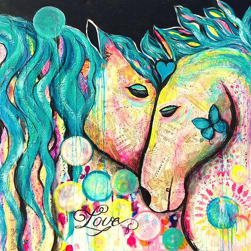 Teal love horses