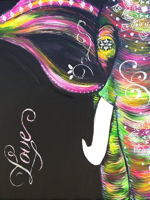 Funky Boho Elephant