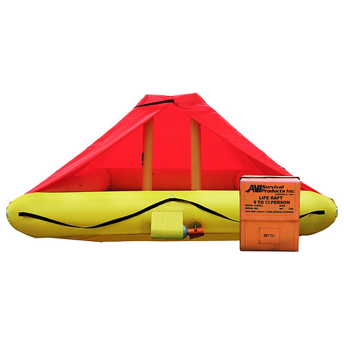 NON TSO 9 Person Life Raft with Standard Equipment Kit