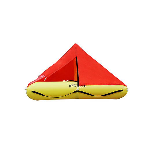 NON TSO 4 Person Life Raft with Standard Plus Survival Equipment Kit
