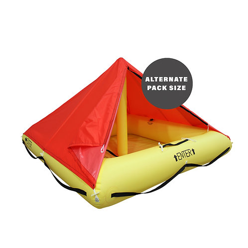 TSO 4 Person Endpack Life Raft with FAR 135 Survival Equipment Kit