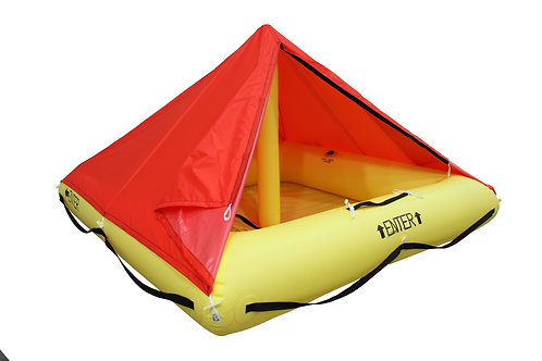 TSO 4 Person Endpack Life Raft with FAR 121 Survival Kit