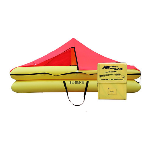 TSO 12 Person Life Raft with FAR 121 Survival Equipment Kit