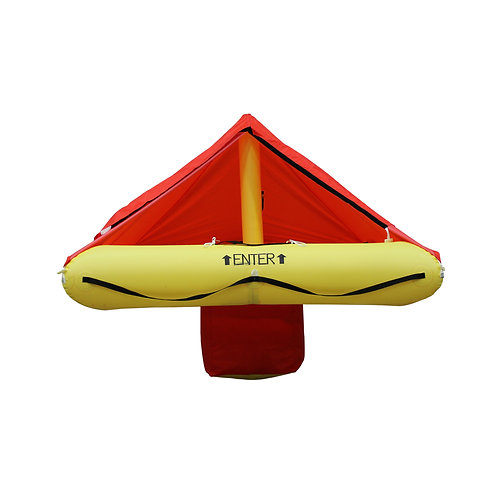 NON TSO 4 Person Life Raft with Standard Survival Kit +