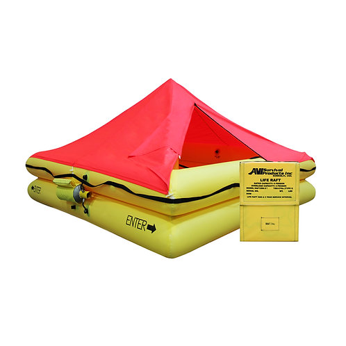 TSO 6 Person Life Raft with FAR 91 Survival EquipmentKit