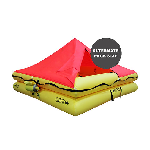 TSO 6 Person Endpack Life Raft with FAR 121 Survival Equipment Kit
