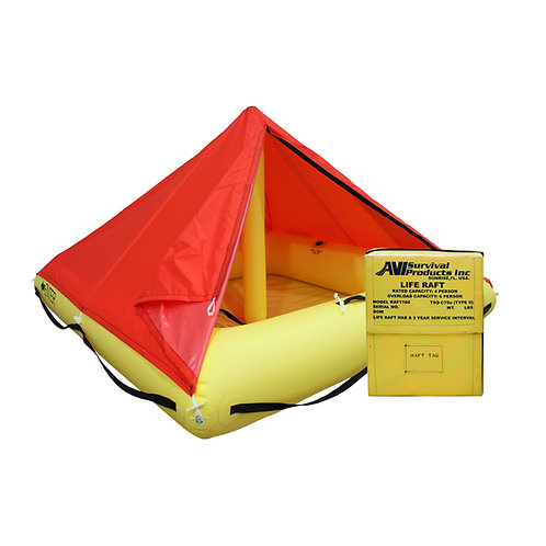 TSO 4 Person Life Raft with FAR 135 Survival Equipment Kit