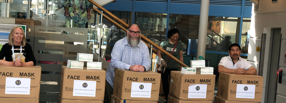 These masks will be distrubuted to those in need across Devon and Cornwall.