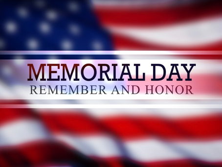 What We're Following Today Memorial Day, 2020