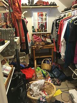 disorganized closet