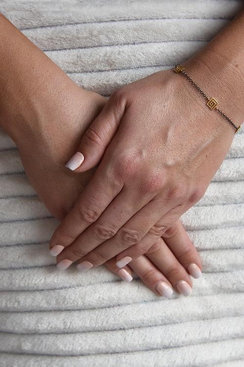 Χειροποίητο βραχιόλι λαβύρινθος από ασήμι 925 επιχρυσωμένο