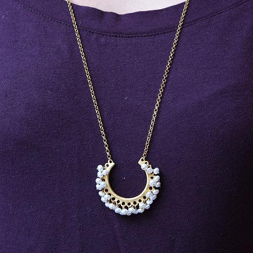 Χειροποίητο κρεμαστό κόσμημα από ασήμι 925 επιχρυσωμένο με pearls
