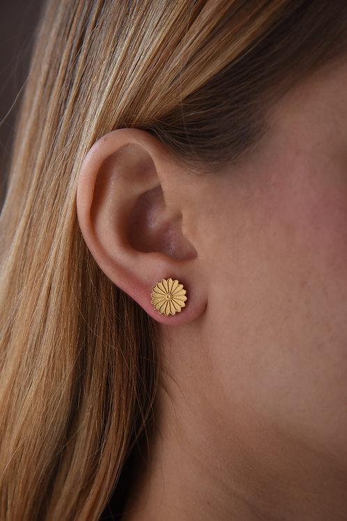 Χειροποίητα σκουλαρίκια  ρόδακας από ασήμι 925 επιχρυσωμένα