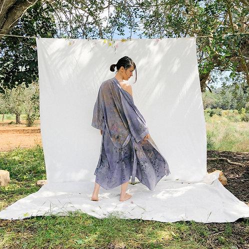 Botanically Dyed Silk Kimono n.10 'Primavera'