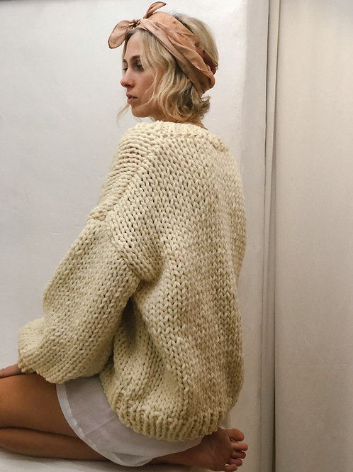 Hand Knitted Olivia Wool Cardigan