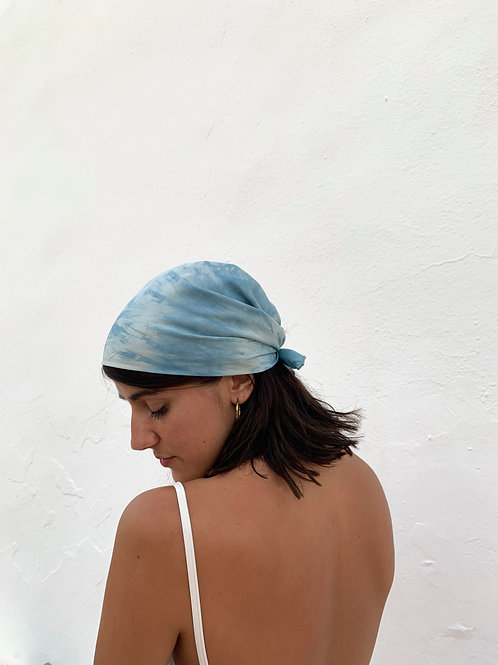 Botanically Dyed Silk Kerchief n.08 'Summer'