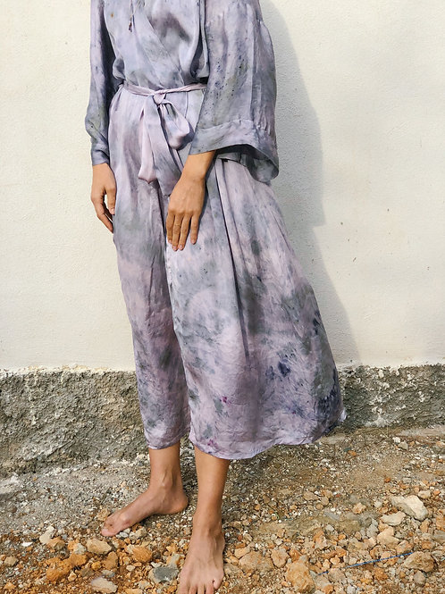 Botanically Dyed Silk  Maxi Kimono n.05 Autumn Edition