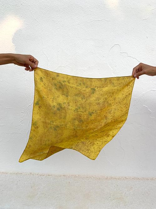 Botanically Dyed Silk Kerchief n.10 'Summer'