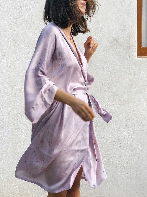 Botanically Dyed Silk  Midi Kimono n.02 Autumn Edition