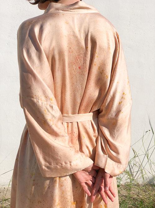 Botanically Dyed Silk Kimono n.01 'Primavera'