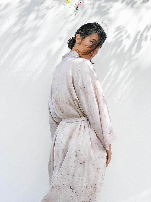 Botanically Dyed Silk Kimono n.11 'Primavera'